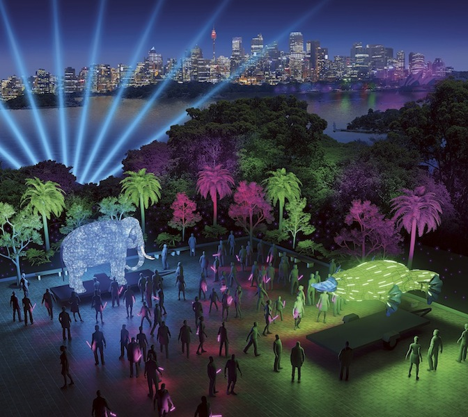 Taronga Zoo Be The Light For The Wild at Vivid Sydney 2016 artist impression by Ample Projects