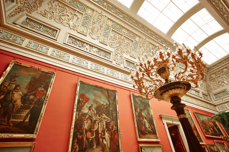 The Hermitage Museum in St. Petersburg, Russia