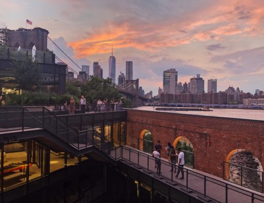Rooftop terrace at Time Out Market New York