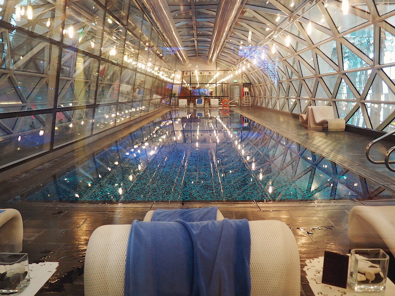 Swimming pool at Hamad International Airport Qatar