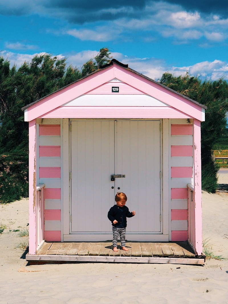 Our toddler enjoying West Wittering Beach