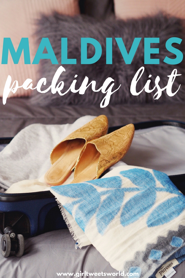 From resort wear to what's appropriate for visiting the local islands - a Maldives packing guide that's got you covered! What to wear in the Maldives - his and her packing guide for honeymoons and holidays. #maldives #packing #packinglist #stylishtravel