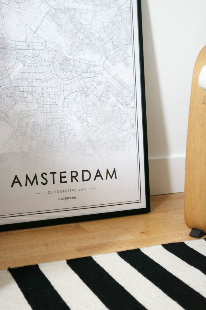 amsterdam map print by Pack Your Passport