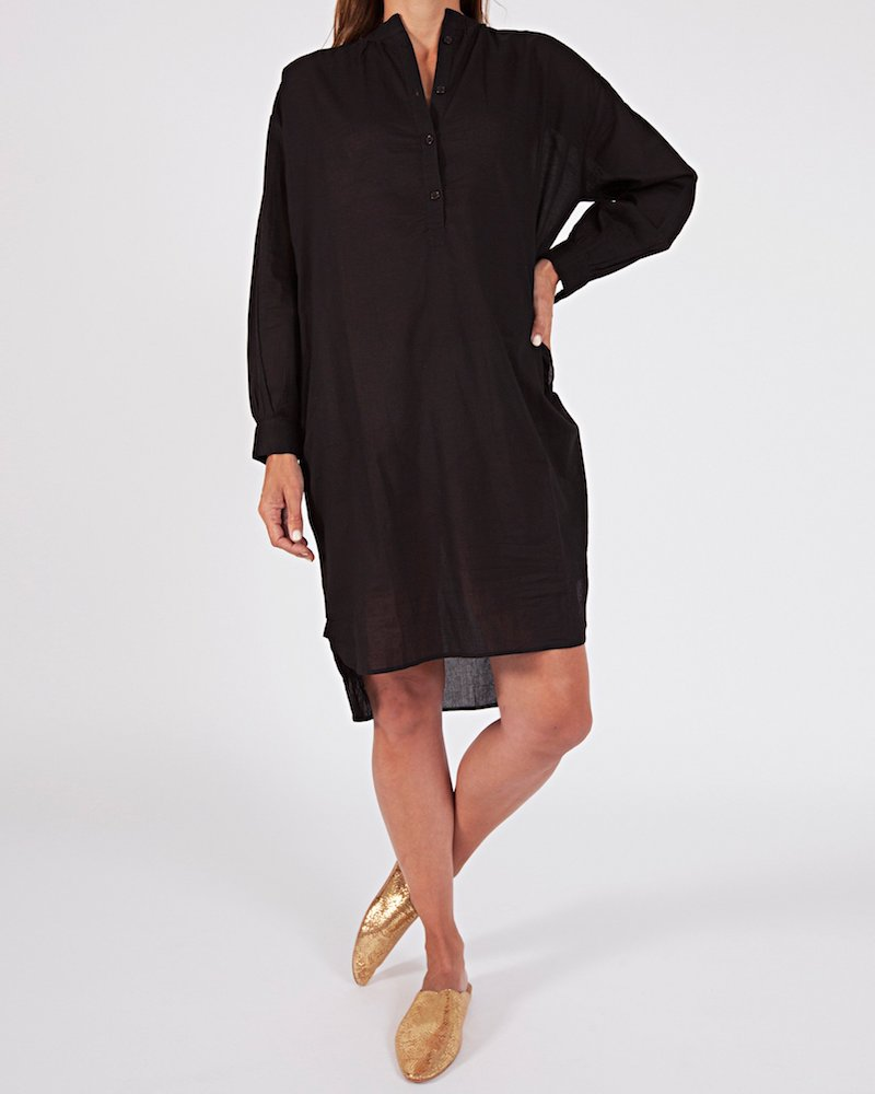 Woven cotton oversized shirt dress by Sassind