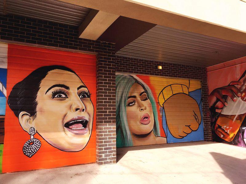 Kim Kardashian and Kylie Jenner Street Art Brunswick Melbourne