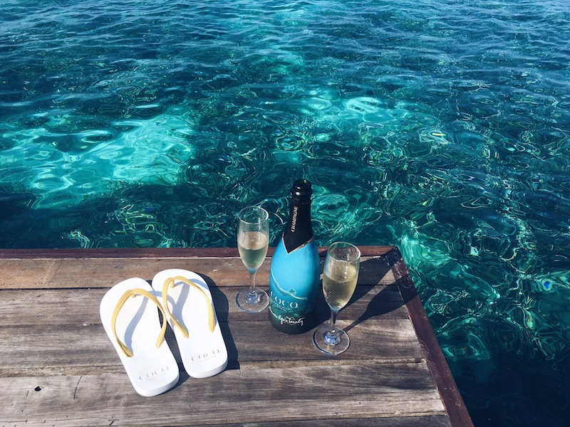 Honeymoons were made for this - complimentary Coco Champagne