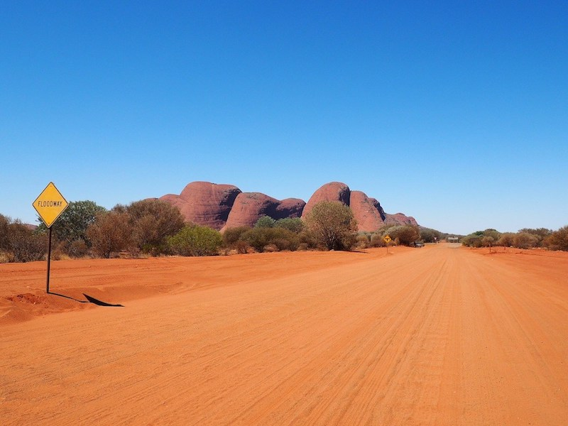 driving in the Red Centre outback Australia