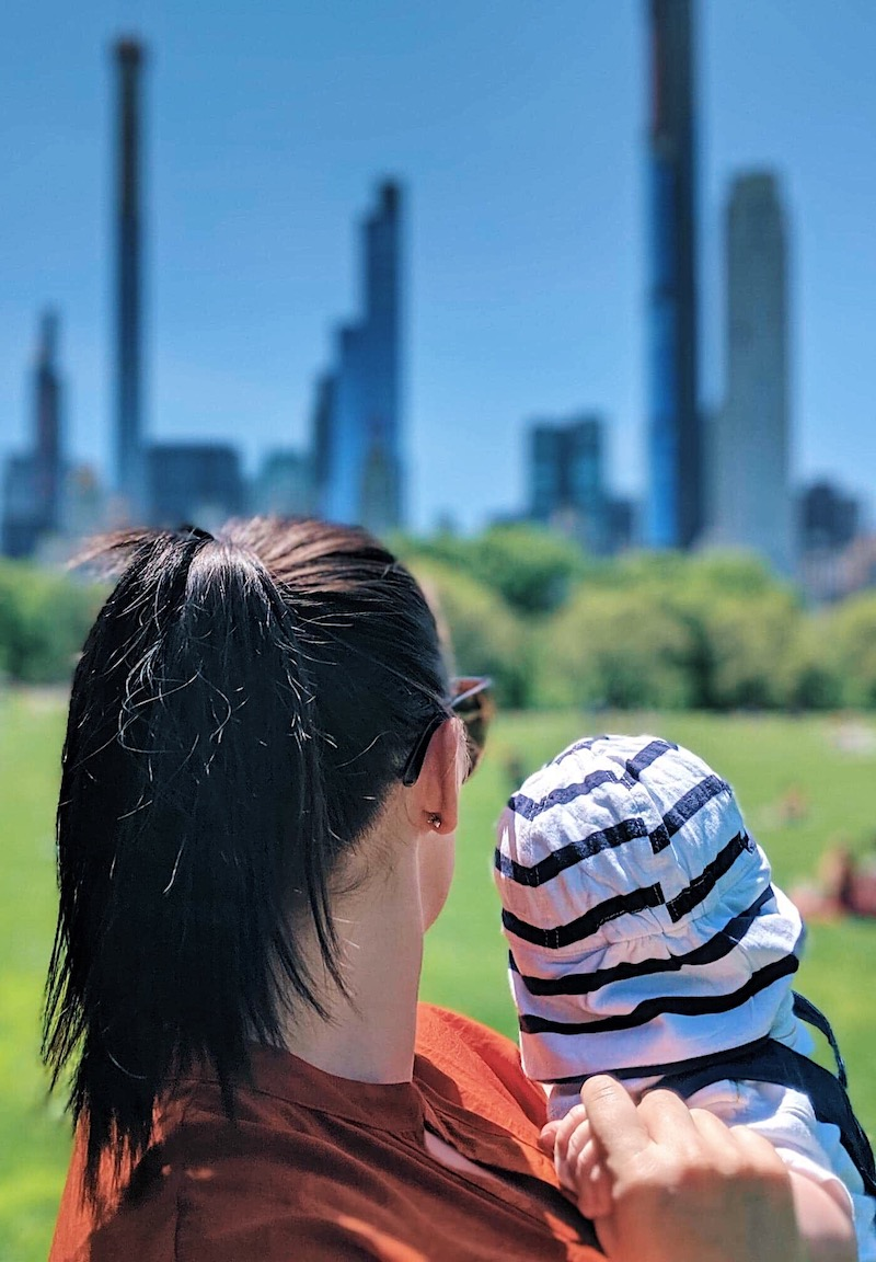 New York with a baby