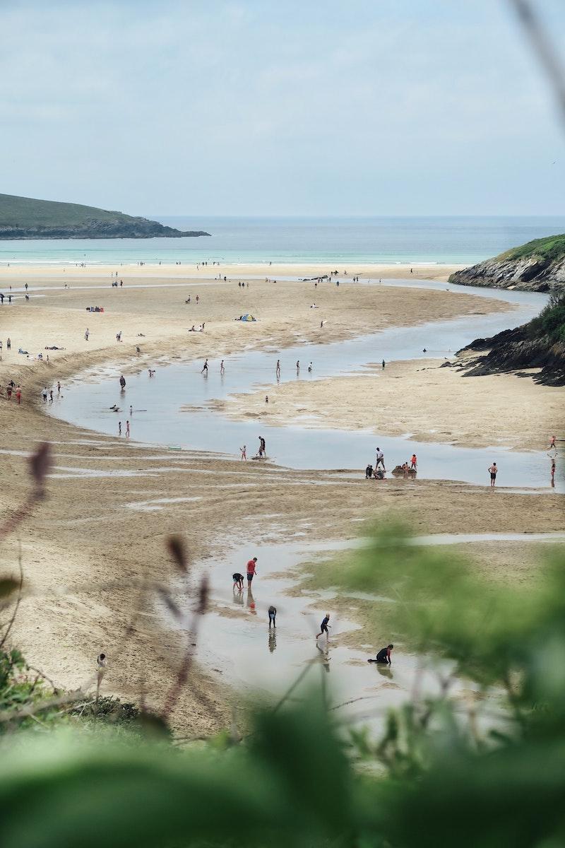 Crantock Beach by George Hiles