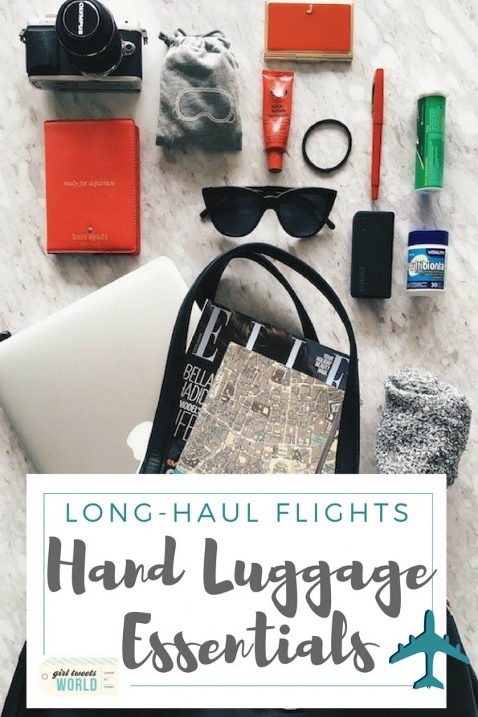 Hand luggage essentials for long haul flights
