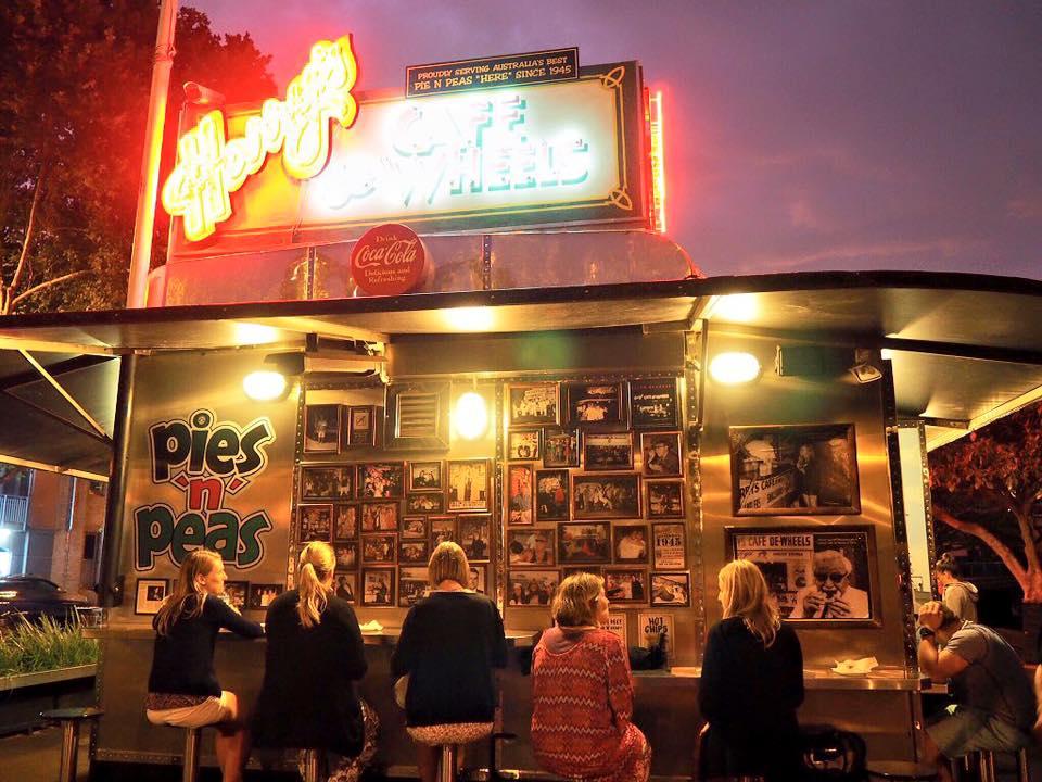 Harry's famous Cafe de Wheels at Woolloomooloo Wharf