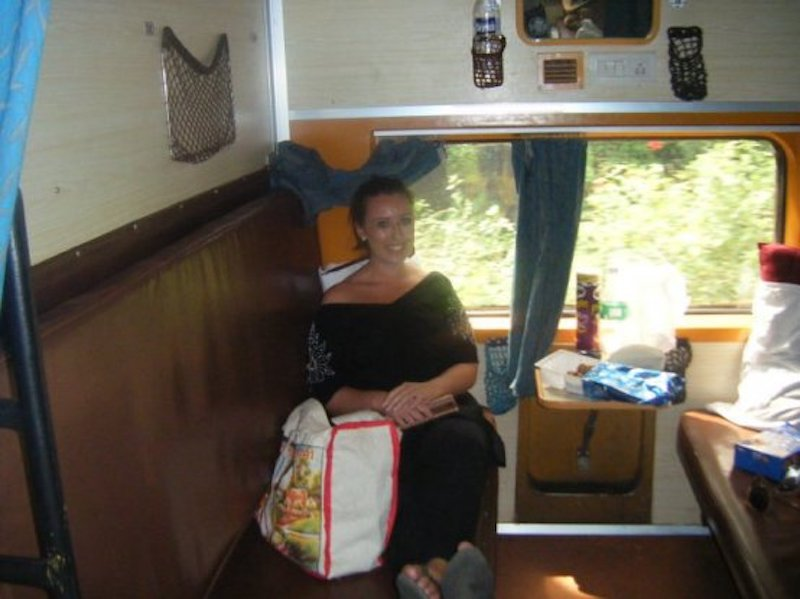 on a train in India 2010
