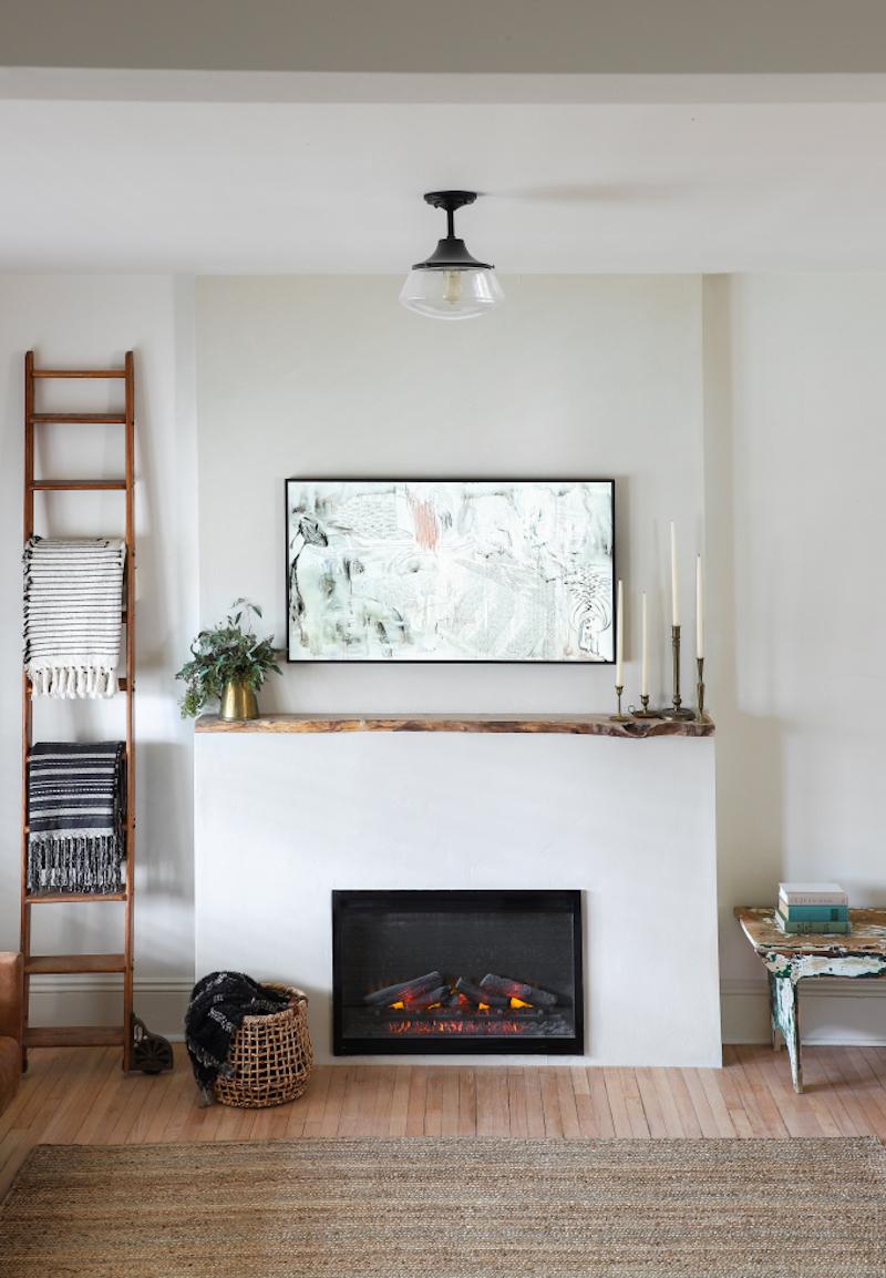 DIY Fireplace by I Spy DIY