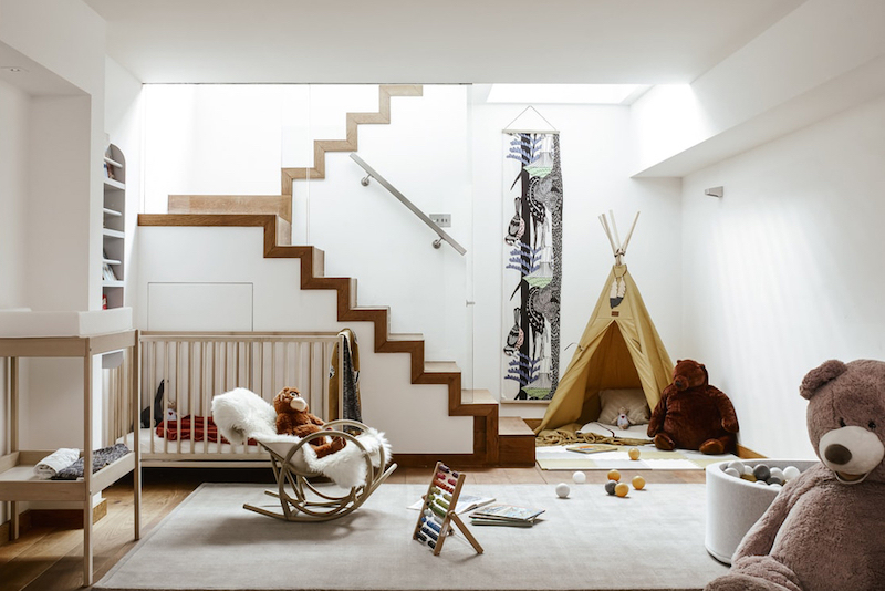 Nursery at The Bayham Street Residence by Kid & Coe