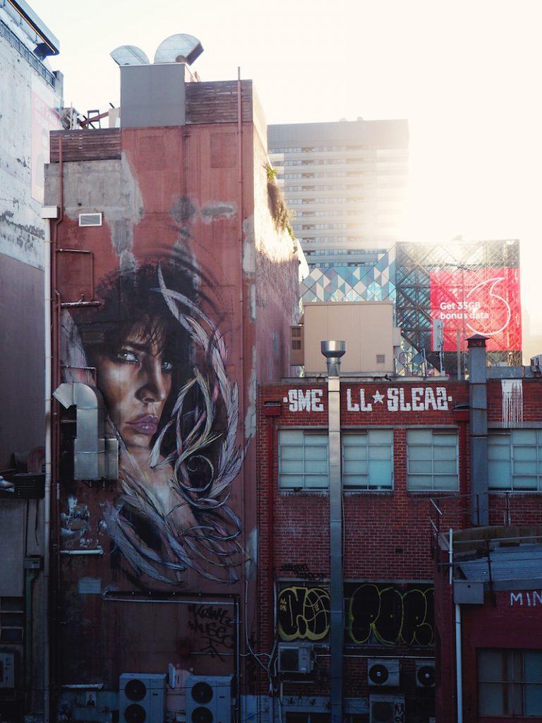 Street art in Melbourne CBD
