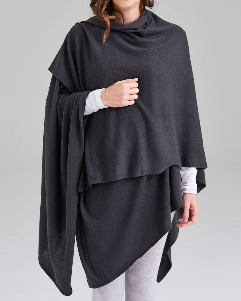 Merino oversized wrap by Sassind