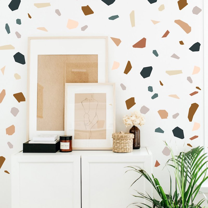 Terrazzo wall decal by The Lovely Wall