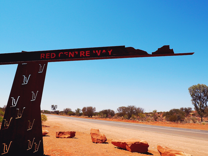 driving Red Centre Way outback Australia