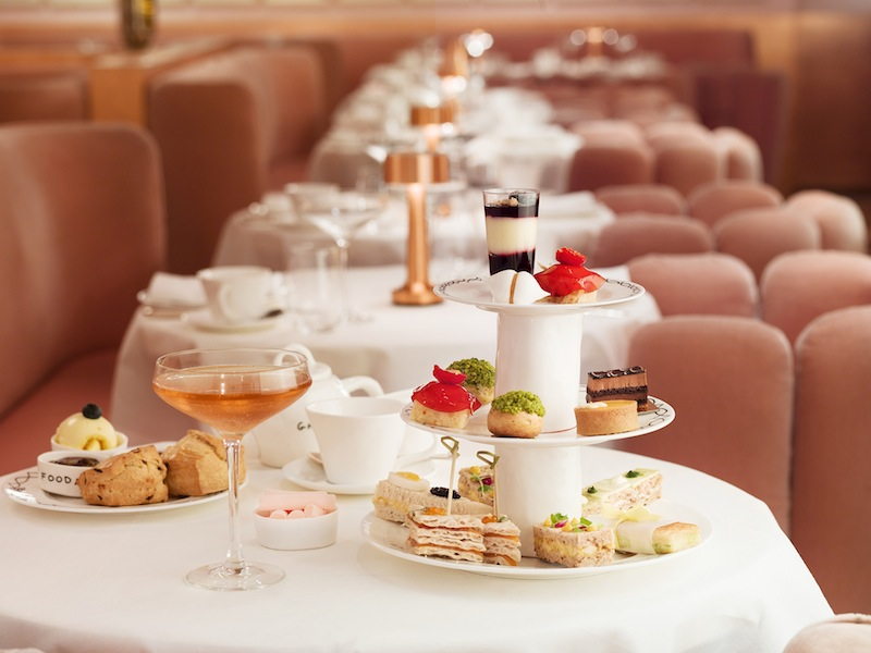 Pretty in pink afternoon tea at Sketch. Image source