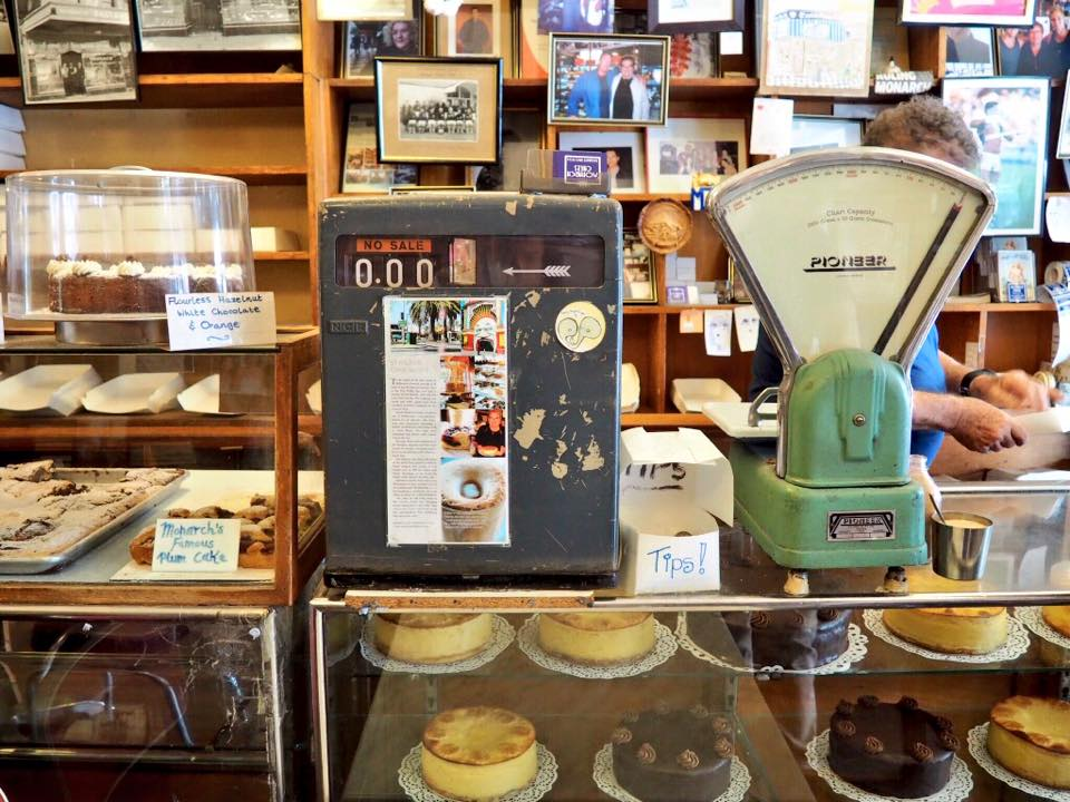 Old school cakes and old school decor at Monarch Cakes in St Kilda Melbourne