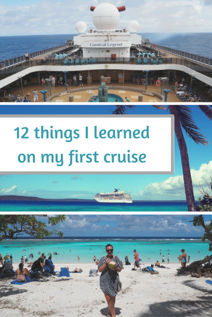 things i learned on my first cruise