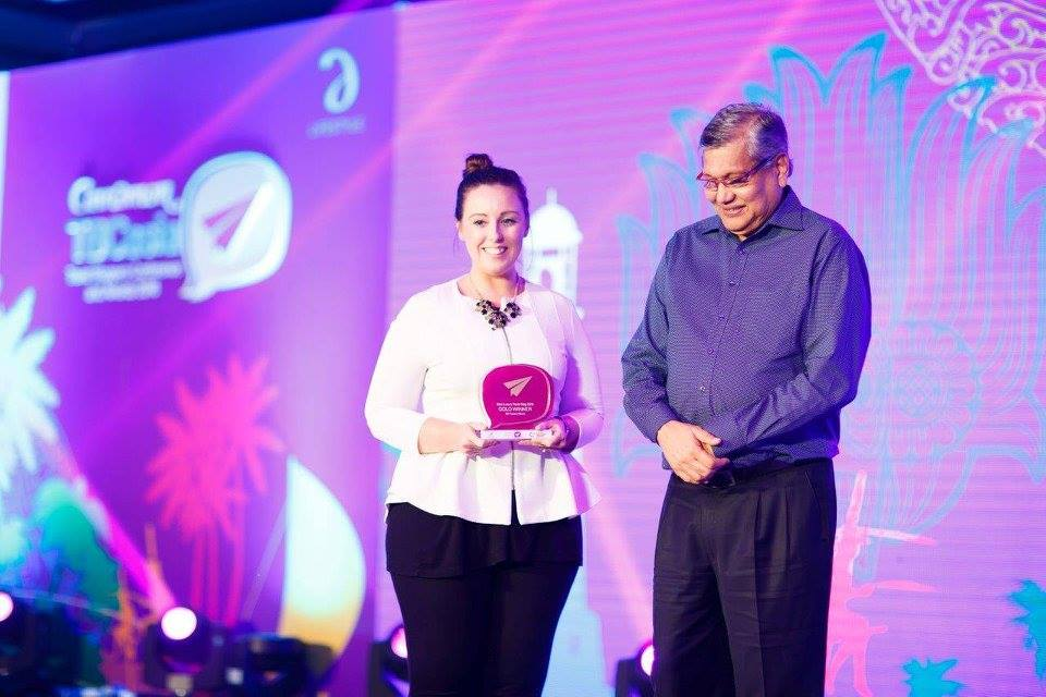 Winning Best Luxury Travel Blog at TBCAsia - photo thanks to Tourism Sri Lanka
