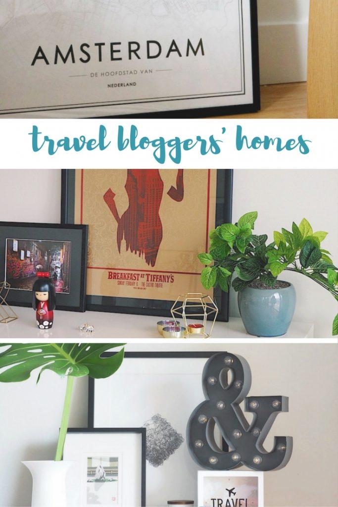 peek inside travel bloggers' travel themed homes