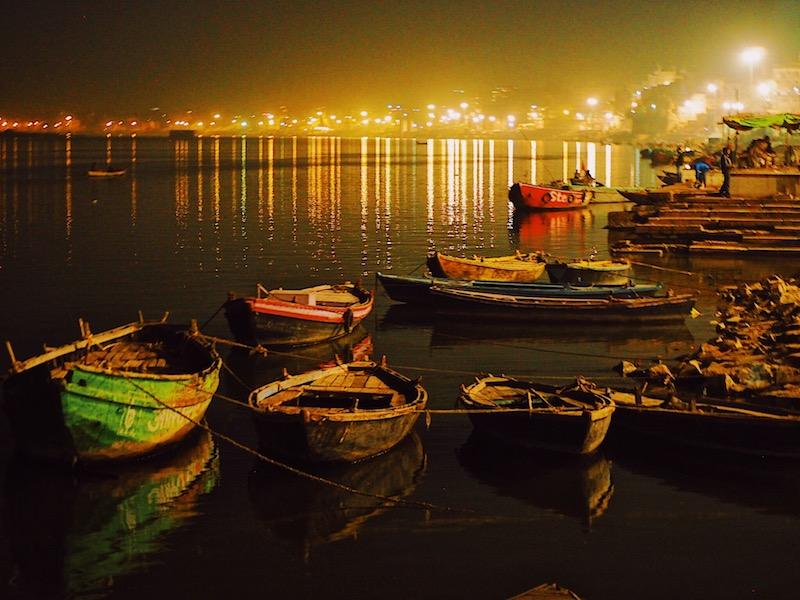 Daily aarti on River Ganges - Visiting Varanasi & River Ganges – India's Holy City That Moved Me ourtravelhome.com